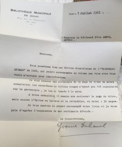 Photographie de la lettre évoquée dans l'article